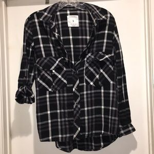 Zara black plaid flannel